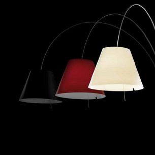 Kunststoffschirm zur Bogenleuchte LADY COSTANZA - in 3 Farben wählbar - Ø 50cm