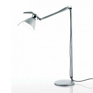 Designer-Leseleuchte FORTEBRACCIO von LUCEPLAN - in Weiß oder aluminiumfarben - mit Dimmer