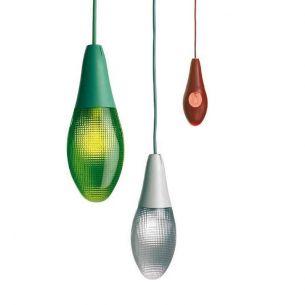 Designer Pendelleuchte POD LENS von LUCEPLAN - für den Innen- und Aussenbereich geeignet - 3 Farben wählbar