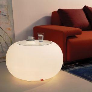 Beistelltisch / Sitzgelegenheit Bubble indoor mit Glasplatte von Moree, IP44