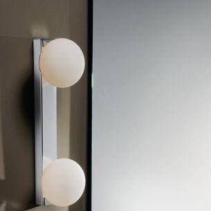 Badleuchte, IP44, 2 flammig, ideale Badbeleuchtung mit Energiesparleuchtmittel