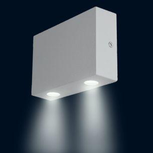 LED-Außenwandleuchte aus Aluminium, LED 2 x 1W, Downlight