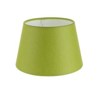 Lampenschirm aus Stoff in Grün rund Ø 20cm Aufnahme E27 unten