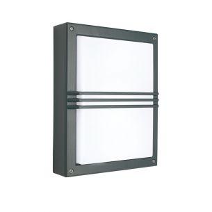 Außen Wand- oder Deckenleuchte - Grafit - 1 x G24q-2 max. 18 Watt (HF - EVG) 1x 18 Watt, grafit