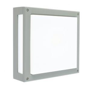 Moderne Außen Wand- oder Deckenleuchte- Alu-grau - 1 x G24d-1 max. 10-13 Watt