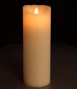 LED-Kerze aus Echtwachs, glatte Oberfläche, Höhe 23 cm 23,00 cm