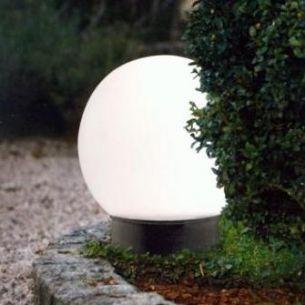 LED Solar-Kugel mit Erdspieß 15 oder 20 im Durchmesser, unterschiedliche Oberflächen