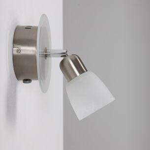LED-Strahlerserie - Edelstahl - Glas - 1-flammiger Wand- oder Deckenstrahler