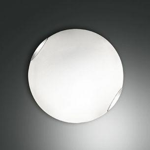 Glas-Deckenleuchte weiß, 40 cm 2x 60 Watt, 40,00 cm