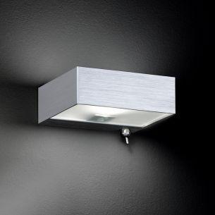 Schlichte Wandleuchte - Aluminium matt - Inklusive Leuchtmittel