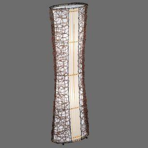 Stehleuchte in Rattan und Stoff, 110 cm