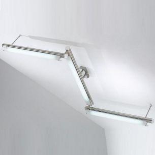 Deckenleuchte schwenkbar mit satiniertem Borsilikatglas