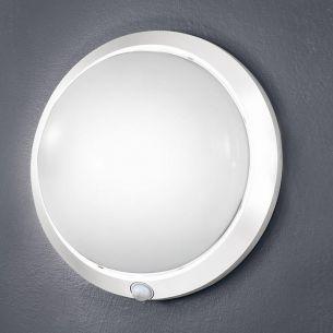Sensorleuchte in Weiß, Leuchte mit Infrarotsensor, Ø 30cm , Ausladung 12cm