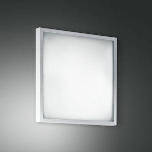 Deckenleuchte 30 x 30 cm, Glas und Metallgestell Weiß weiß, lackiert