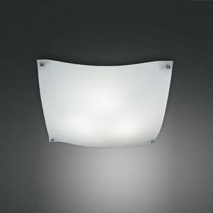Deckenleuchte mit zart gebogenen Glasecken, 40 x 40 cm 3x 60 Watt, 40,00 cm, 40,00 cm