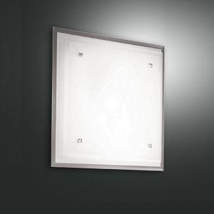 Deckenleuchte, geschichtetes Glas, 40 x 40 cm 2x 60 Watt, 40,00 cm, 40,00 cm