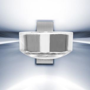 Wandleuchte Lilly - Nickel matt/Bleikristall - Inklusive Leuchtmittel