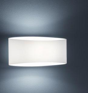 Moderne Halogen Wandleuchte - Opalglas - weiß - Inklusive Leuchtmittel