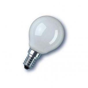 Glühlampe D45 Tropfen 25W opal weiß E14
