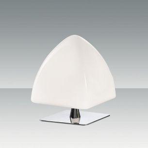 Tischleuchte mit weißem Schirm weiß