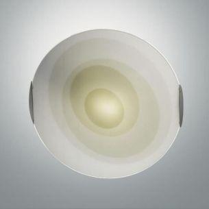 Deckenleuchte, Durchmesser 40cm Glas Grün grün, satiniert/mit Farbverlauf