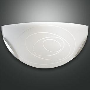 Wandleuchte Glas in Weiß weiß, satiniert