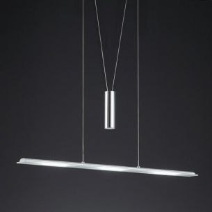 LED-Zugpendelleuchte in Aluminium und Chrom,  LED 3x 6Watt, 3000K