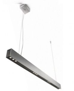 LED-Pendelleuchte Acitone  4 x High Power LED-Module -  Aluminium - grau/anthrazit
