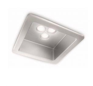 LED - Einbauleuchte- 1-flammig -  eckig - Inklusive High-Power LED - Stahl gebürstet oder weiss