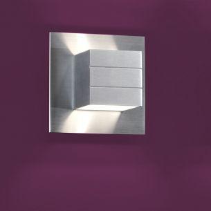Moderne Wandleuchte Liva - Aluminium matt aluminiumfarben