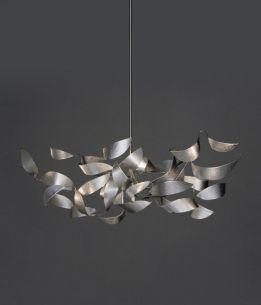 handgefertigte Design-Pendelleuchte aus Edelstahl, universell dimmbar