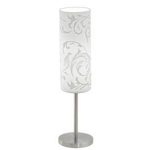 Tischleuchte Glas mit floralem Muster bedruckt