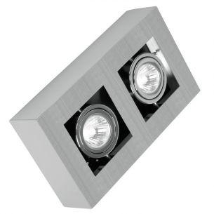 Deckenstrahler mit schwenkbarem Leuchtmittel,  2x 35W  GU10 2x 35 Watt, 25,00 cm, 14,00 cm