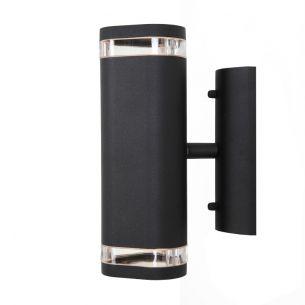 Wandstrahler in Schwarz 2x 5 Watt, schwarz