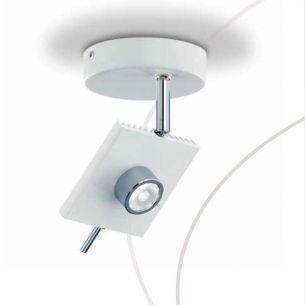 runder LED Strahler schwenkbar in Weiß oder Grau wählbar , 6W LED-Leuchtmittel, 3000K Lichtfarbe warmweiß