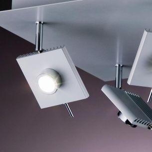 Deckenleuchte in Weiß oder Grau LED Spots, 6W LED-Leuchtmittel  inklusive