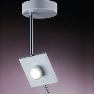 runder LED Strahler wählbar in Weiß oder Grau mit schwenkbarem Spot, 6W LED-Leuchtmittel  inklusive