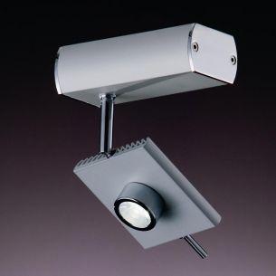 LED Strahler wählbar in weiß oder Grau mit schwenkbarem Spot, 6W LED-Leuchtmittel  inklusive