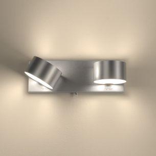 Wandleuchte schwenkbar, titanfarbig inklusive ECO- Leuchtmittel