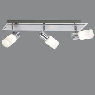 LED-Balken, schwenkbar, Aluminium und Chrom inklusive 3x LED 5Watt, 3000K 330lm
