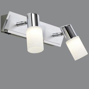 2-flg. LED-Balken, schwenkbar in Aluminium und Chrom