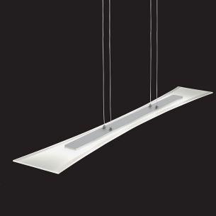 LED-Pendelleuchte, Aluminium gebürstet und teilsatiniertes Glas, 4x5W LED 3000K  warmweiß 300lm