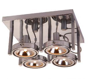 Strahler mit 2 Achsen, 4 flammig, inklusive Leuchtmittel