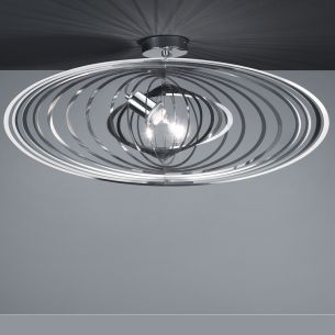 Deckenleuchte veränderbare Ring-Optik,  Edelstahl-Chrom Kombination