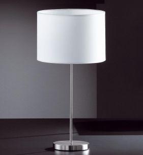 Tischleuchte, Nickel-matt, Durchmesser 28cm, Höhe 57cm