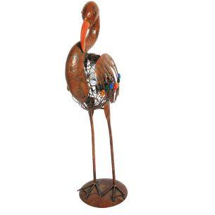 LED-Solarleuchte Flamingo