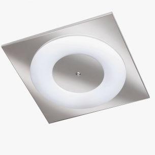 Minimalistische Deckenleuchte - Chrom - eckig - inklusive Ringröhre