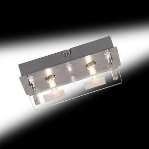 Deckenleuchte mit Halogen und LED Licht kombiniert, inklusive Leuchtmittel