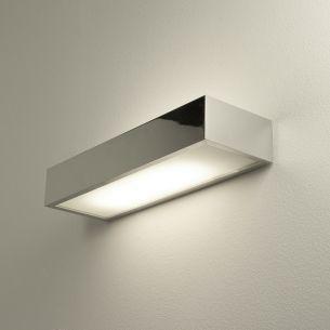 Moderne Wandleuchte als perfekte indirekte Badbeleuchtung - Chrom - Glas -  30 cm Länge 1x 18 Watt, 30,00 cm, 10,00 cm