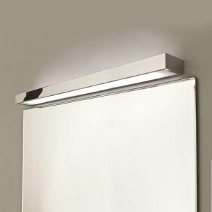 Moderne Wandleuchte als perfekte indirekte Badbeleuchtung - Chrom - Glas -  90 cm Länge 1x 39 Watt, 90,00 cm, 8,00 cm
